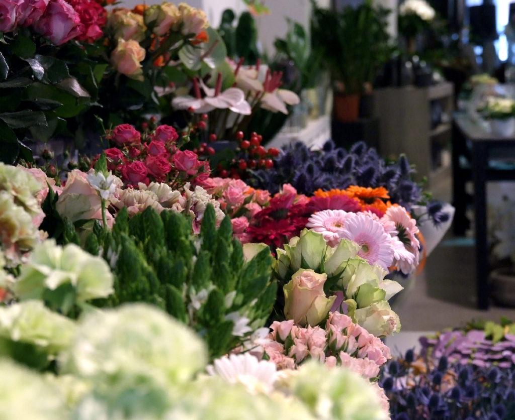 boeketten en bloemstukken